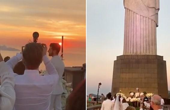 O casamento do DJ Alok às 5h da manhã aos pés do Cristo Redentor é tão irreal que parece uma ótima ideia