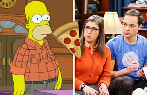 Troque personagens de Big Bang Theory e Simpsons e revelaremos que comida você deve pedir