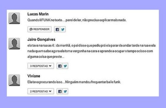 Comentários em notícias sobre estupro mostram como o problema é grave no Brasil