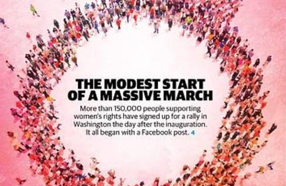 """Aparentemente o """"Washington Post Express"""" esqueceu qual símbolo representa as mulheres"""