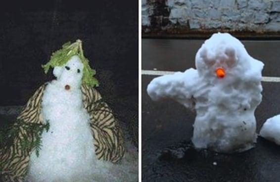 A melhor coisa do inverno chegou: os bonecos de neve brasileiros