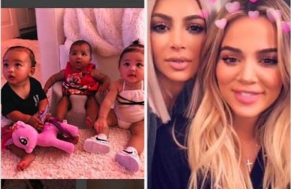 Nem a nenê de Khloé Kardashian escapou do racismo nas redes sociais