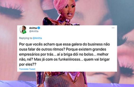 Anitta deu a melhor resposta a um produtor musical que criticou o funk no Grammy