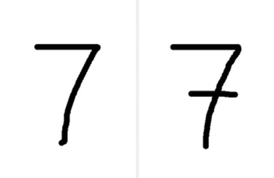 Será que você escreve estes números da mesma forma que todo mundo?