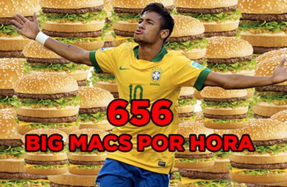 Neymar agora tem tanto dinheiro que daria para comprar 656 Big Macs por hora