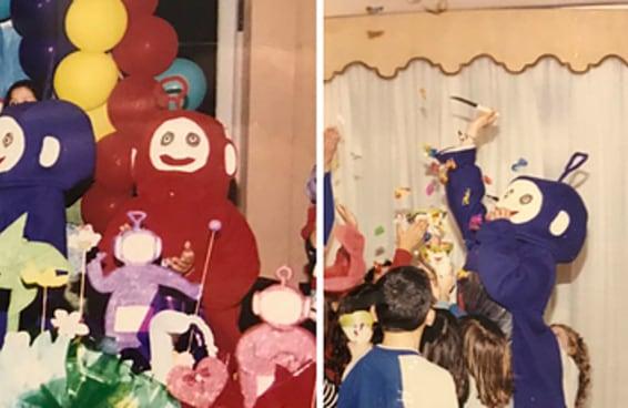 Quem é você nessa aterrorizante festa de aniversário com Teletubbies malignos?