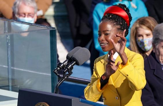 Oprah deu o anel e os brincos que Amanda Gorman usou na posse de Joe Biden