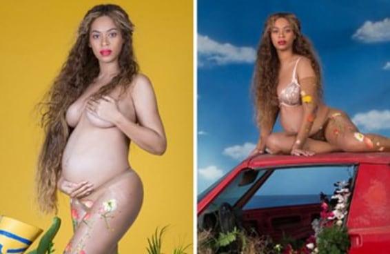 A Beyoncé publicou todo o ensaio de fotos dela grávida e TIRO BERRO GRITO