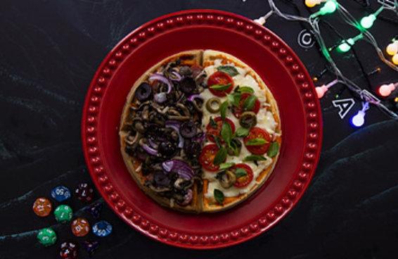 Este waffle pizza é perfeito para quem tem um paladar de outro mundo