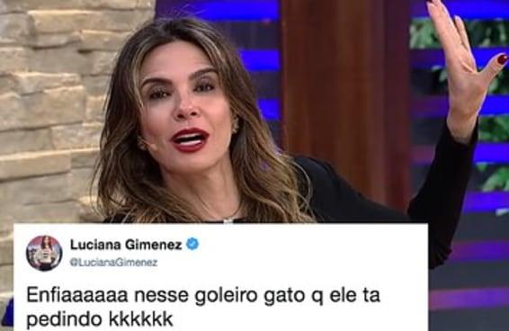 Não existe brasileiro mais empolgado com a Copa do que a Luciana Gimenez