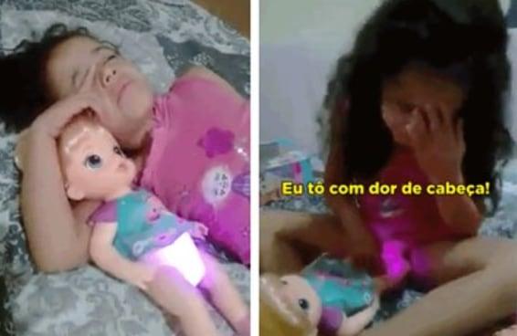 Esta garota teve uma experiência miserável com uma boneca realista demais