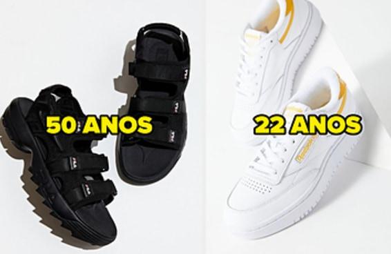 Descobriremos sua idade com base nos seu gosto por sapatos