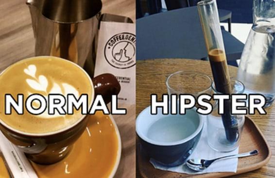 20 fotos que ilustram a diferença entre comida normal e comida hipster