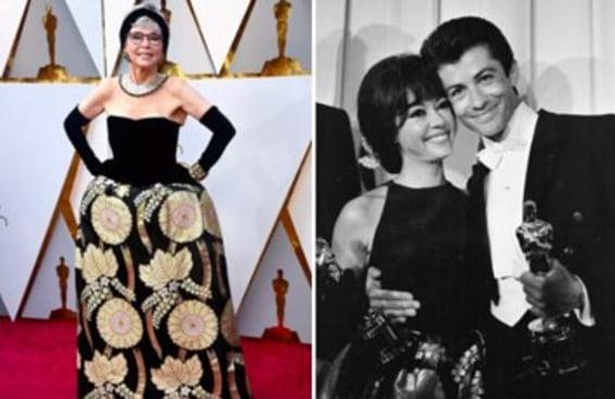 A atriz Rita Moreno foi ao Oscar 2018 com o mesmo vestido que usou em 1962