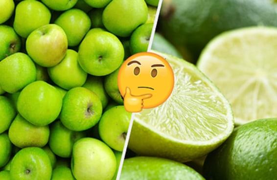 Você só pode salvar uma fruta de cada cor - qual vai ser?