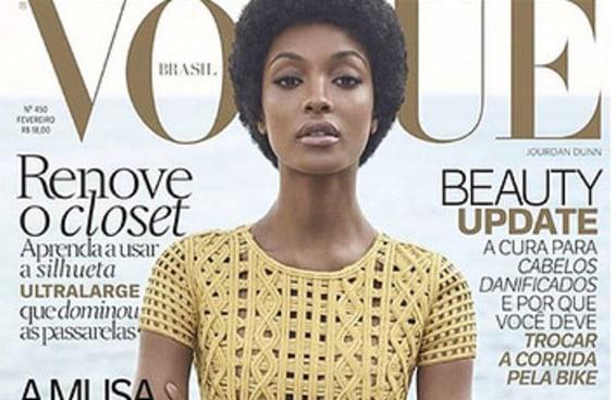 A top model Jourdan Dunn está fabulosa na capa da Vogue Brasil