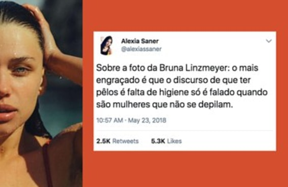 """As fotos da Bruna ajudam a questionar a """"obrigação"""" da depilação"""