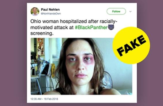 """Trolls estão mentindo no Twitter dizendo que brancos foram atacados em sessões de """"Pantera Negra"""""""