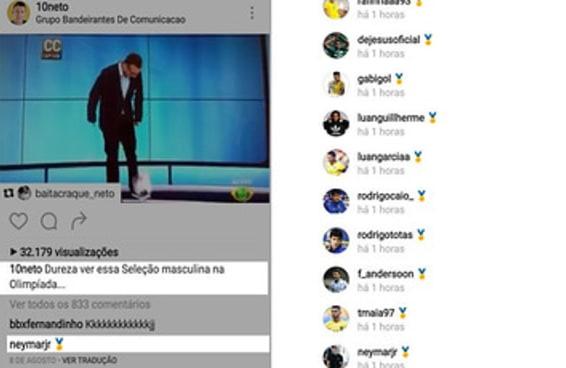A resposta dos campeões olímpicos a uma crítica do Neto vale ouro