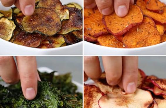 Aprenda a fazer chips de frutas e legumes