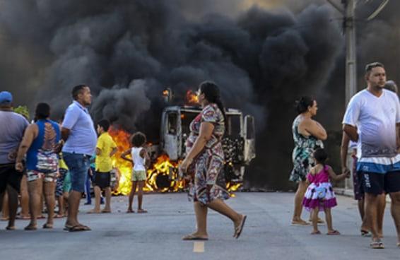 Estas imagens mostram o tamanho da onda de violência no Ceará