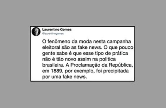 Este escritor explicou como uma fake news antecipou a Proclamação da República do Brasil
