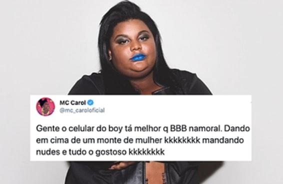 A MC Carol descobriu as traições do namorado e postou tudo no Twitter