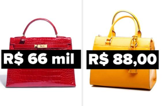 Você consegue adivinhar qual dessas bolsas de luxo é a mais cara?