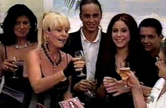Em 1999, Shakira participou da festa de aniversário da Ana Maria Braga