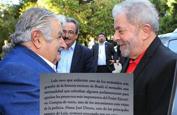 Veja a página do livro em que Mujica fala da conversa com Lula sobre o mensalão