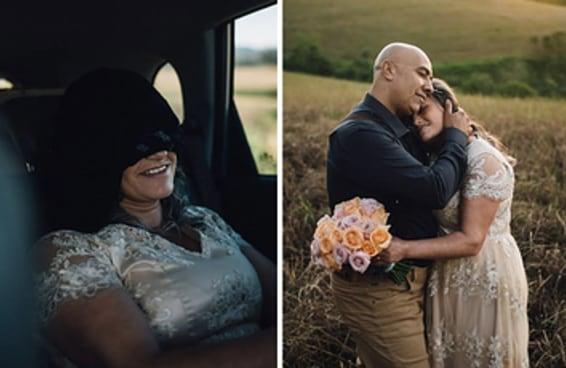 Este filho fez uma bela festa de casamento surpresa para mãe