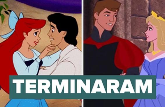 """16 casais da Disney classificados de """"felizes para sempre"""" a """"terminaram uma semana depois"""""""