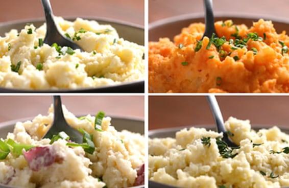4 Receitas de purês de batata