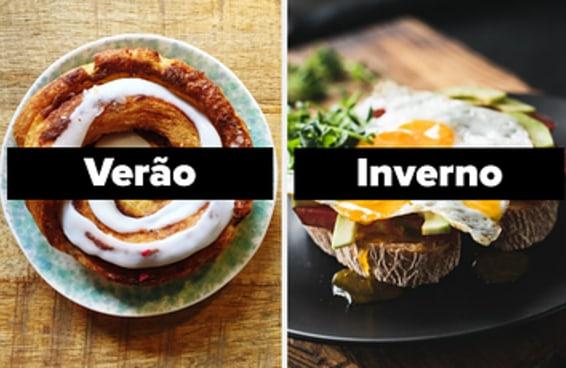 Escolha um café da manhã para cada dia da semana e diremos qual estação do ano combina mais com você