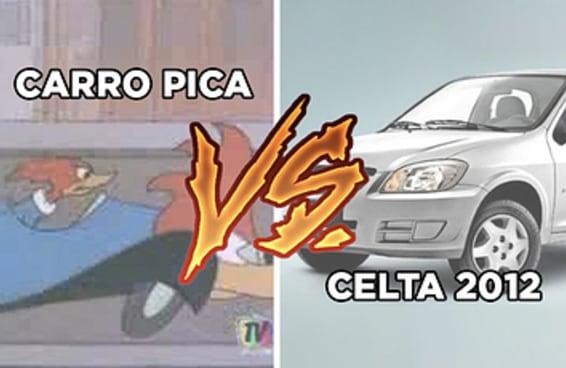Um carro pica x um Celta 2012 é a questão que está mexendo com o país