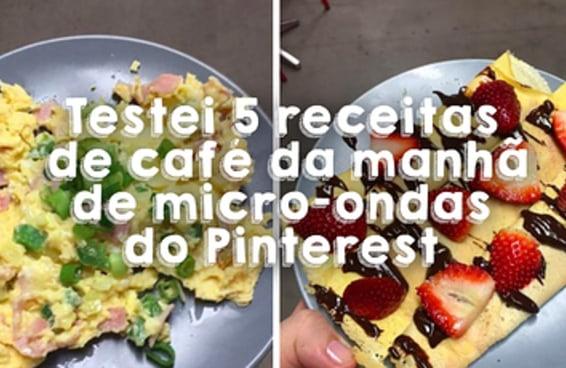 Testei 5 receitas de café da manhã de micro-ondas do Pinterest e já posso vender meu fogão