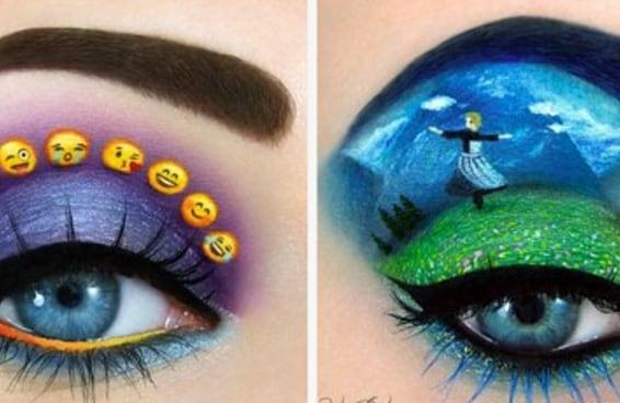 Artista cria maquiagens lindas para olhos que parecem arte