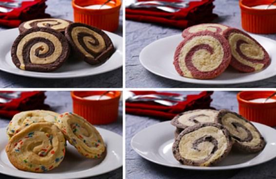 Que sabores você escolheria para fazer estes cookies em espiral?