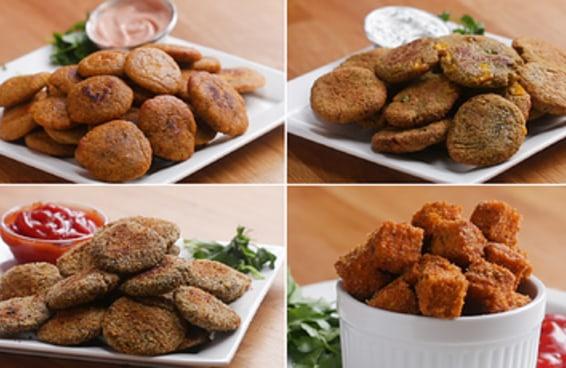 Nuggets De Vegetais De 4 Jeitos