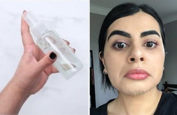 Como foi testar um spray de maquiagem caseiro que vi no Pinterest