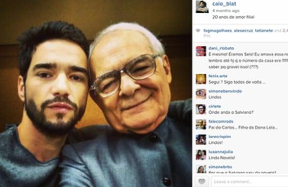 """Caio Blat pode ter dado um spoiler de """"Império"""" em seu Instagram"""