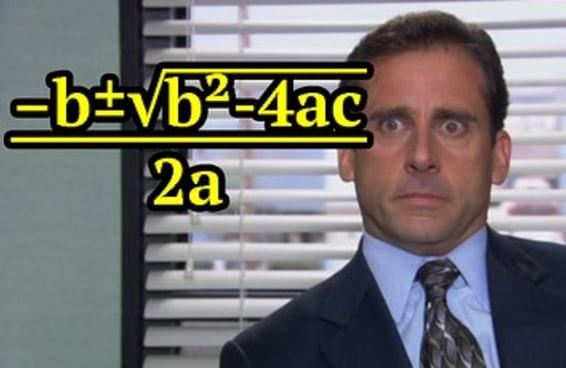 Só quem era o nerd da turma vai se lembrar de mais de oito destas fórmulas matemáticas