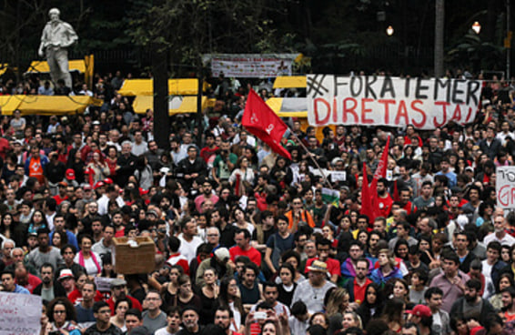 """SP tem protesto gigantesco após Temer desdenhar """"40 pessoas"""""""
