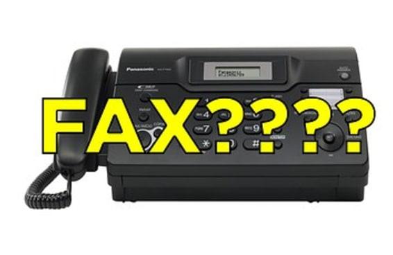 Tentamos mandar um FAX e foi isso que aconteceu