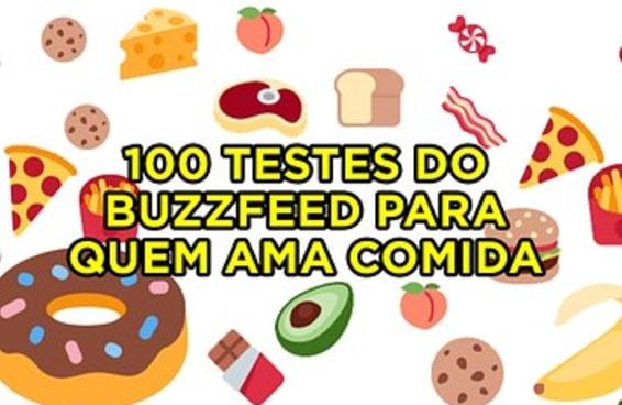 100 testes do BuzzFeed para quem ama comida