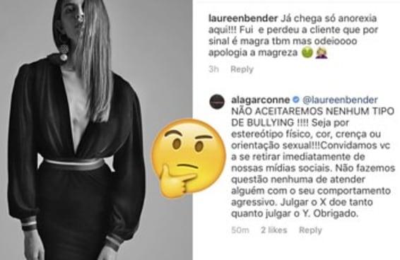 Essa marca jura que está sofrendo bullying por usar modelos magérrimas