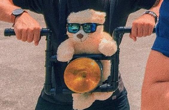 O gato de óculos escuros na moto virou uma fantasia de carnaval