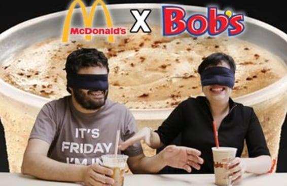 Você conseguiria saber qual milkshake de Ovomaltine é do Bob's e qual é do McDonald's?