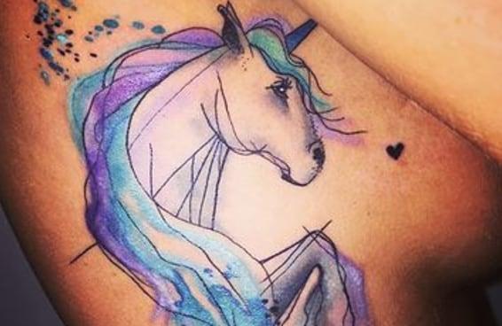 20 tatuagens mágicas de unicórnios