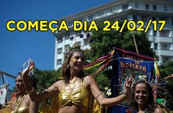 Faltam menos de 100 dias para começar o Carnaval 2017